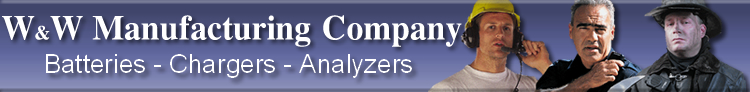 W&W Manufacturing Company Batteries-Chargers-Analyzers